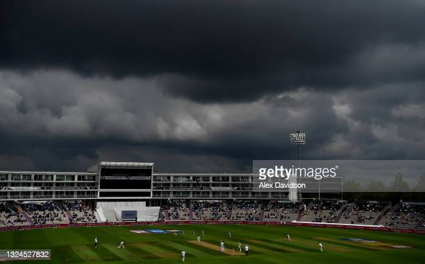 General view of play during Day 3 of the ICC World Test Championship Final between India and New Zealand at The Hampshire Bowl on June 20, 2021 in...