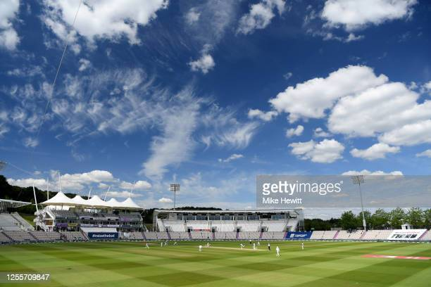 General view of play during day five of the 1st #RaiseTheBat Test match at The Ageas Bowl on July 12, 2020 in Southampton, England.