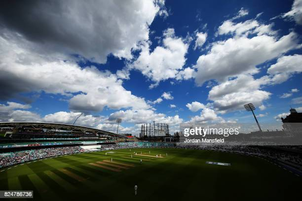 A general view of play during day five of the 3rd Investec Test match between England and South Africa at The Kia Oval on July 31 2017 in London...
