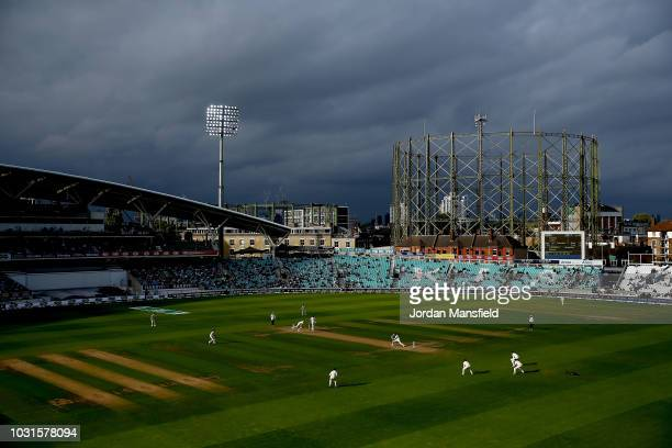 A general view of play during day five of the Specsavers 5th Test match between England and India at The Kia Oval on September 11 2018 in London...