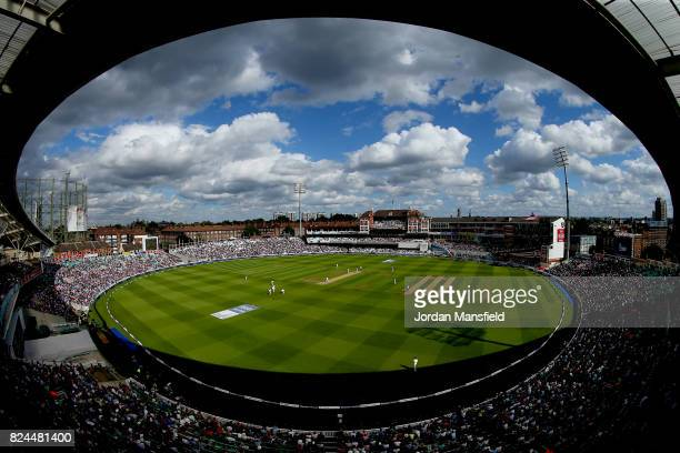A general view of play during day four of the 3rd Investec Test match between England and South Africa at The Kia Oval on July 30 2017 in London...