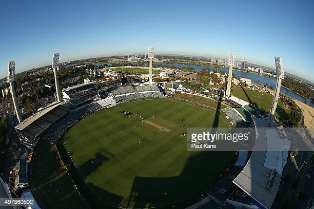 A general view of play during day four of the second Test match between Australia and New Zealand at WACA on November 16 2015 in Perth Australia