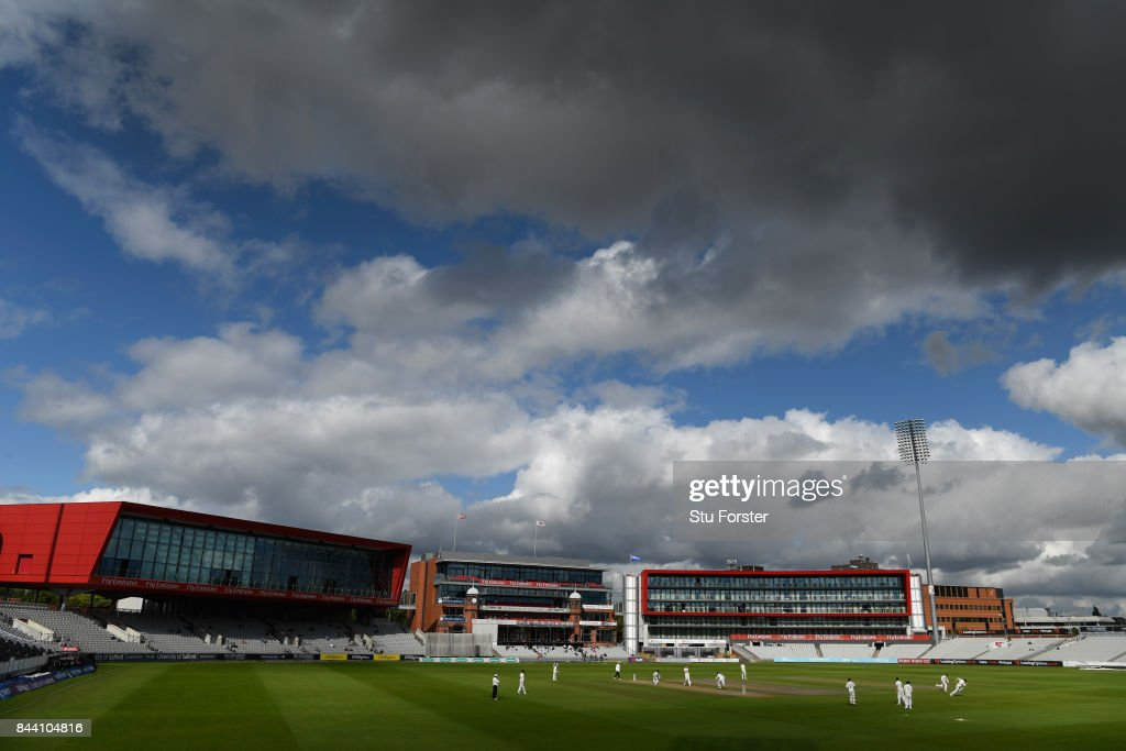 A general view of play during day four of the Specsavers County Championship Division One match between Lancashire and Essex at Old Trafford on September 8, 2017 in Manchester, England.