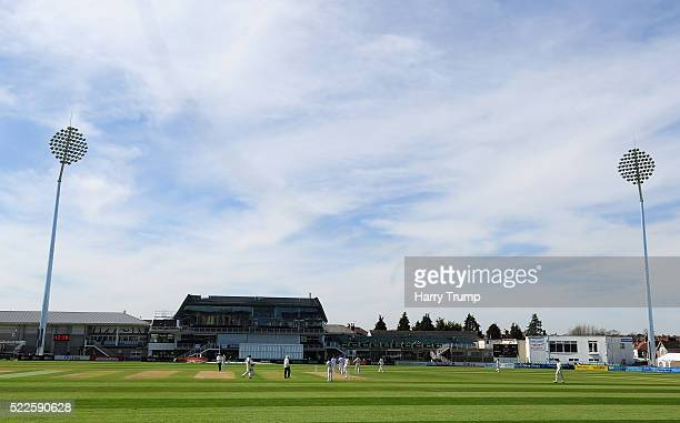 General view of play during Day Four of the Specsavers County Championship Division Two match between Gloucestershire and Derbyshire at The County...