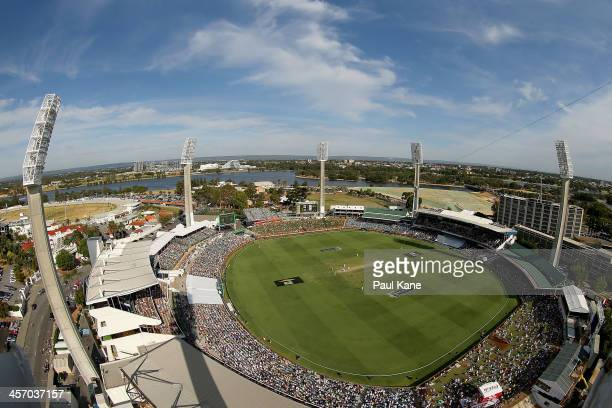 A general view of play during day four of the Third Ashes Test Match between Australia and England at the WACA on December 16 2013 in Perth Australia