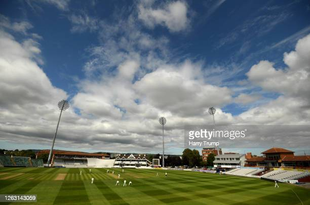 General view of play during Day One of the Bob Willis Trophy match between Somerset and Glamorgan at The Cooper Associates County Ground on August...
