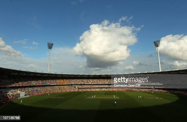 General view of play during day one of the First Ashes Test match between Australia and England at The Gabba on November 25, 2010 in Brisbane,...