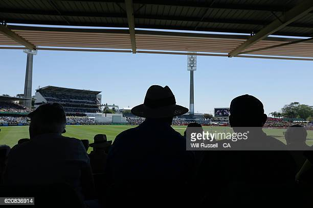 A general view of play during day one of the First Test match between Australia and South Africa at WACA on November 3 2016 in Perth Australia