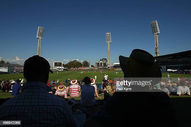 A general view of play during day one of the second Test match between Australia and New Zealand at WACA on November 13 2015 in Perth Australia