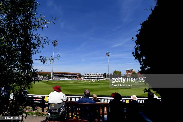 General view of play during Day One of the Specsavers County Championship match between Somerset and Surrey at The Cooper Associates County Ground on...