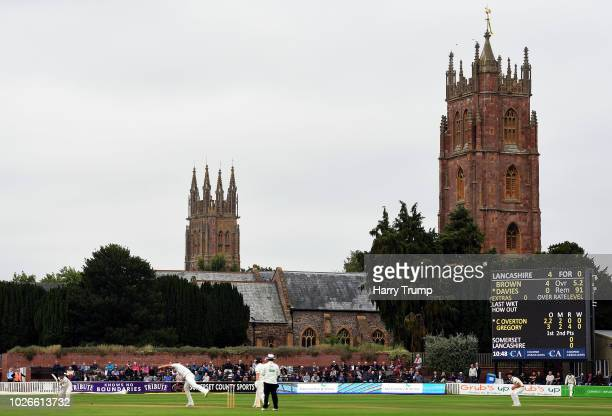 General view of play during Day One of the Specsavers County Championship Division One match between Somerset and Lancashire at The Cooper Associates...