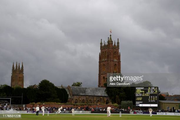 General view of play during Day One of the Specsavers County Championship Division One match between Somerset and Essex at The Cooper Associates...
