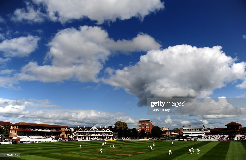General view of play during Day One of the Specsavers County Championship Division One match between Somerset and Lancashire at The Cooper Associates County Ground on September 12, 2017 in Taunton, England.