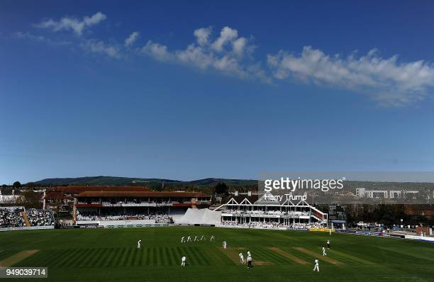 General view of play during Day One of the Specsavers County Championship Division One match between Somerset and Worcestershire at The Cooper...