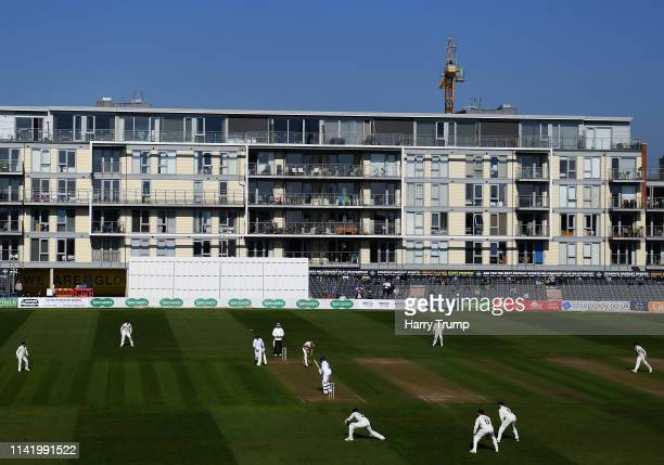 General view of play during Day One of the Specsavers County Championship Division Two match between Gloucestershire and Derbyshire at The Brightside...