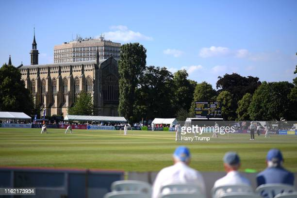 General view of play during Day One of the Specsavers County Championship Division Two match between Gloucestershire and Leicestershire at Cheltenham...