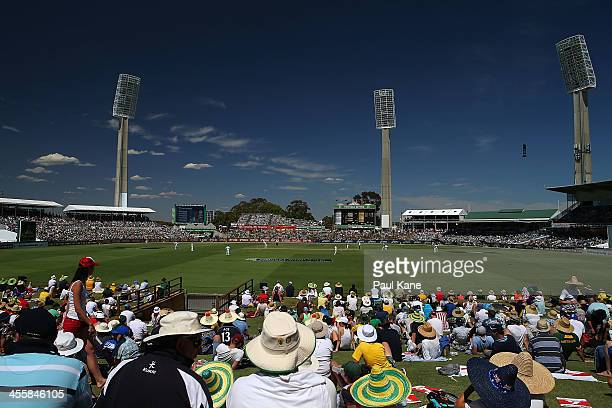 A general view of play during day one of the Third Ashes Test Match between Australia and England at the WACA on December 13 2013 in Perth Australia