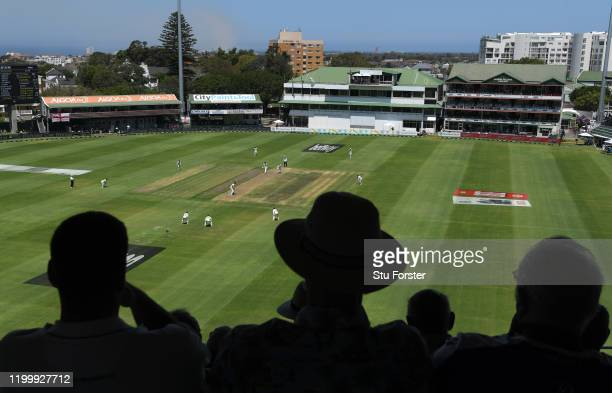 General view of play during Day One of the Third Test between England and South Africa at St George's Park on January 16, 2020 in Port Elizabeth,...