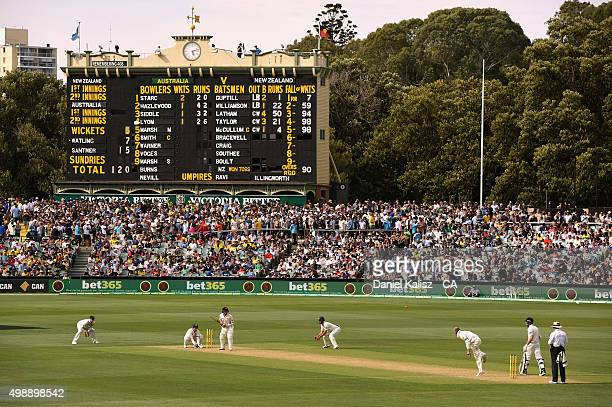A general view of play during day one of the Third Test match between Australia and New Zealand at Adelaide Oval on November 27 2015 in Adelaide...
