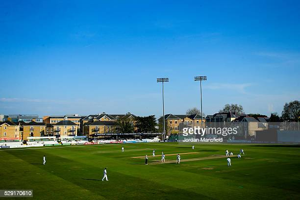 A general view of play during Day One of the tour match between Essex and Sri Lanka at the Ford County Ground on May 08 2016 in Chelmsford England