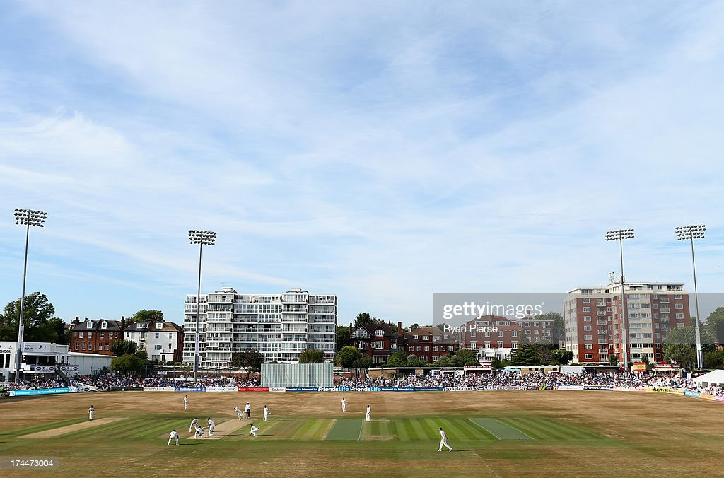 A general view of play during Day One of the Tour Match between Sussex and Australia at The County Ground on July 26, 2013 in Hove, England.
