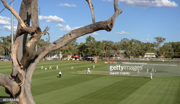 General view of play during day one of the tour match between the Chairman's XI and England at Traeger Park on November 29 2013 in Alice Springs...