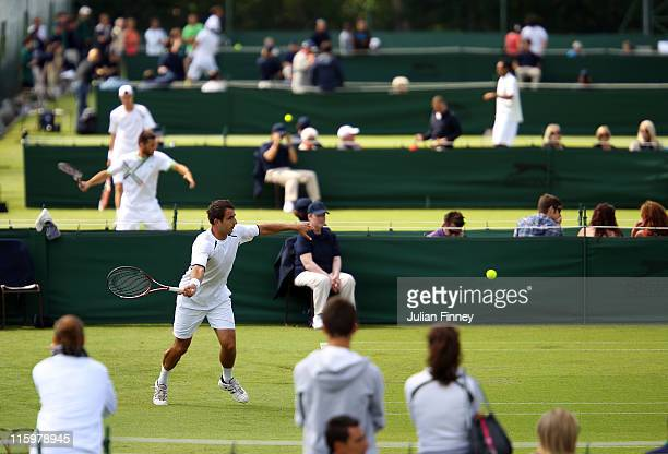 General view of play during day one of the Wimbledon Championships 2011 Qualifying on June 13, 2011 in London, England.