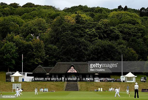 A general view of play during day one of Women's test match between England and India at Wormsley Cricket Ground on August 13 2014 in High Wycombe...