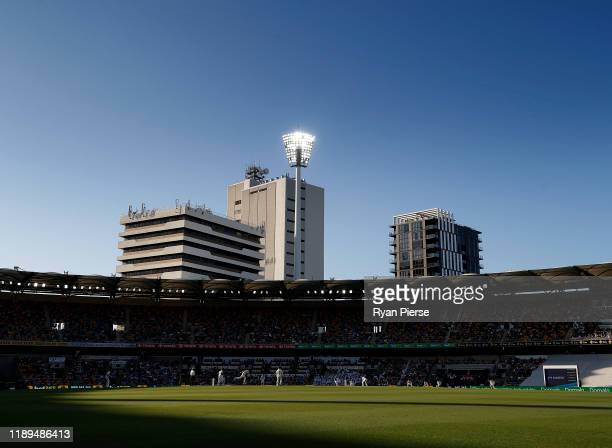 General view of play during day three of the 1st Domain Test between Australia and Pakistan at The Gabba on November 23, 2019 in Brisbane, Australia.