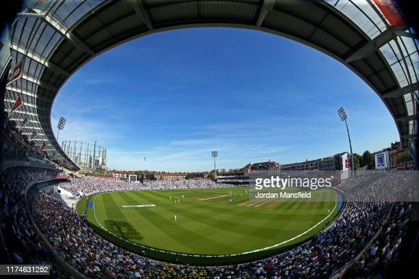 General view of play during day three of the 5th Specsavers Ashes Test between England and Australia at The Kia Oval on September 14, 2019 in London,...