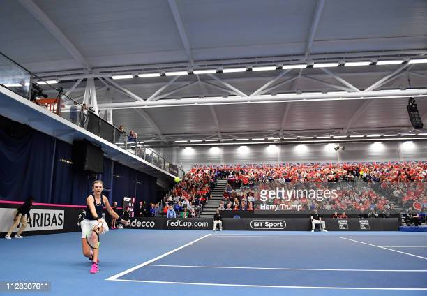 General view of play during Day Three of the Fed Cup Europe and Africa Zone Group I at the University of Bath on February 08 2019 in Bath England
