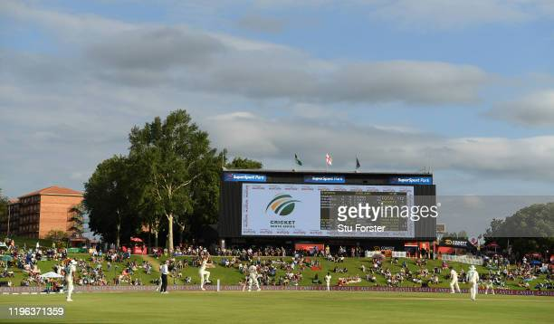 General view of play during Day Three of the First Test match between England and South Africa at SuperSport Park on December 28, 2019 in Pretoria,...