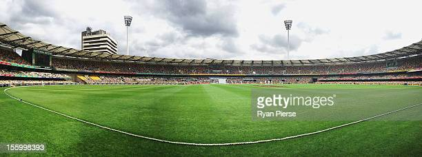 A general view of play during day three of the First Test match between Australia and South Africa at The Gabba on November 11 2012 in Brisbane...