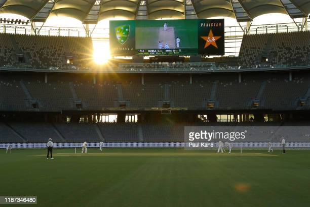 General view of play during day three of the International Tour match between Australia A and Pakistan at Optus Stadium on November 13, 2019 in...