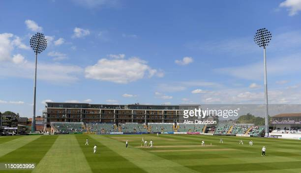 A general view of play during Day Three of the Specsavers County Championship match between Somerset and Warwickshire at The Cooper Associates County...