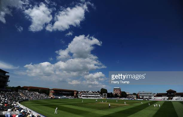 General view of play during Day Three of the Specsavers County Championship Division One match between Somerset and Nottinghamshire at The Cooper...