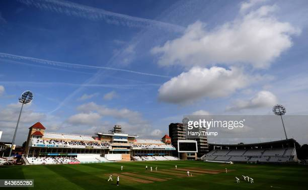 General view of play during Day Three of the Specsavers County Championship Division Two match between Nottinghamshire and Worcestershire at Trent...