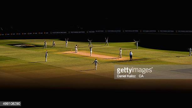 A general view of play during day three of the Third Test match between Australia and New Zealand at Adelaide Oval on November 29 2015 in Adelaide...