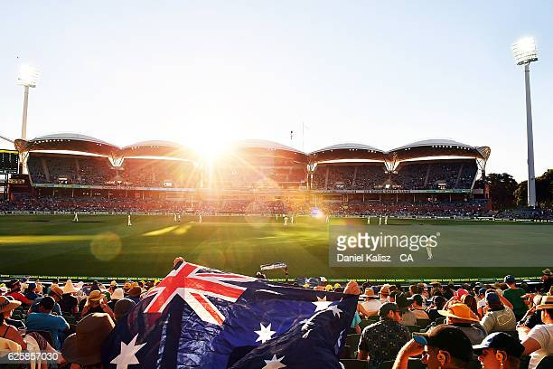A general view of play during day three of the Third Test match between Australia and South Africa at Adelaide Oval on November 26 2016 in Adelaide...