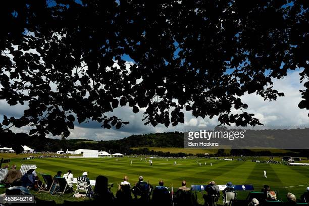 A general view of play during day three of Women's test match between England and India at Wormsley Cricket Ground on August 15 2014 in High Wycombe...