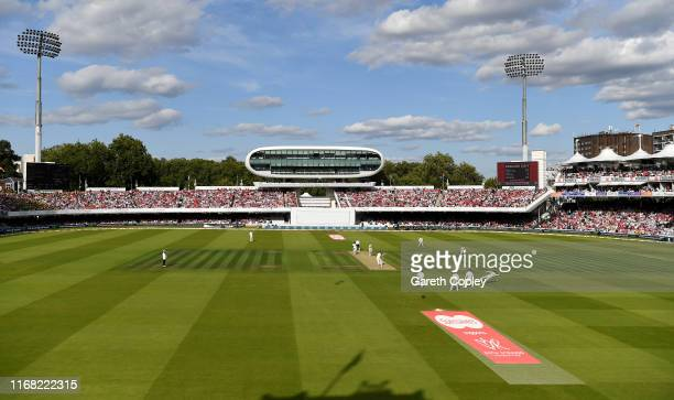 General view of play during day two of the 2nd Specsavers Ashes Test match at Lord's Cricket Ground on August 15, 2019 in London, England.