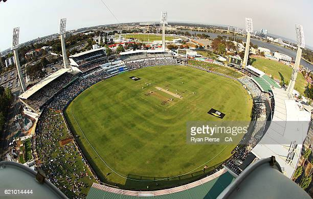 A general view of play during day two of the First Test match between Australia and South Africa at WACA on November 4 2016 in Perth Australia
