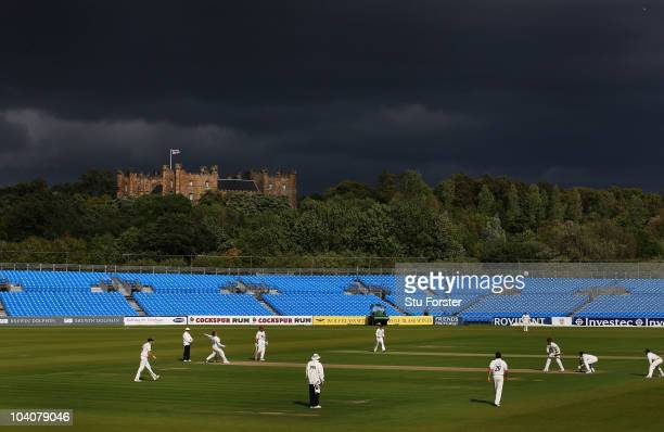 General view of play during Day two of the LV County Championship Division One match between Durham and Somerset at Emirates Durham International...