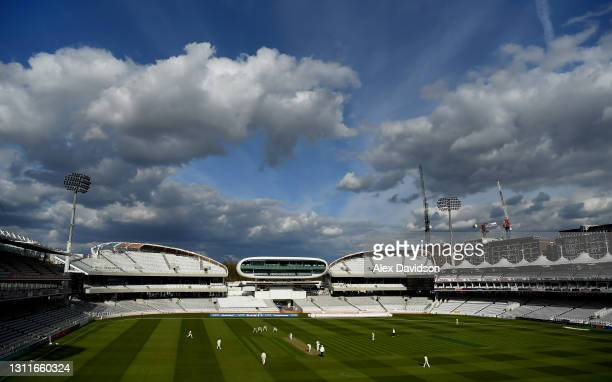 General view of play during Day Two of the LV= Insurance County Championship match between Middlesex and Somerset at Lord's Cricket Ground on April...