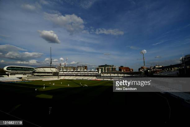 General view of play during Day Two of the LV= Insurance County Championship match between Middlesex and Gloucestershire during at Lord's Cricket...