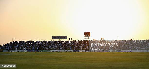 A general view of play during Day Two of the Second Test between Pakistan and Australia at Sheikh Zayed Stadium on October 31 2014 in Abu Dhabi...