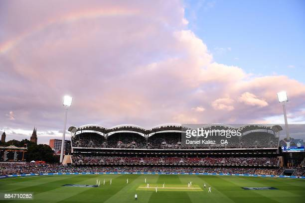 A general view of play during day two of the Second Test match during the 2017/18 Ashes Series between Australia and England at Adelaide Oval on...