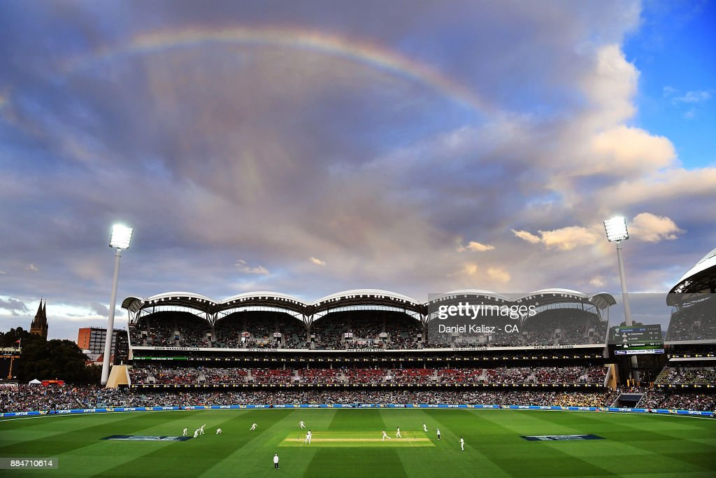 A general view of play during day two of the Second Test match during the 2017/18 Ashes Series between Australia and England at Adelaide Oval on December 3, 2017 in Adelaide, Australia.