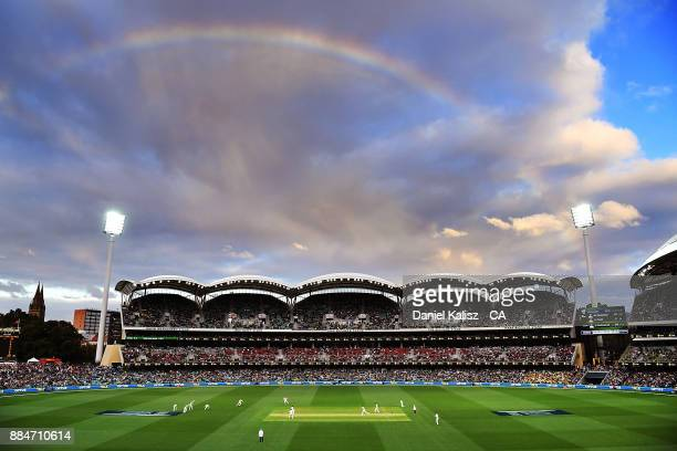 General view of play during day two of the Second Test match during the 2017/18 Ashes Series between Australia and England at Adelaide Oval on...
