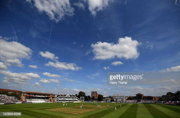 General view of play during Day Two of the Specsavers County Championship Division One match between Somerset and Lancashire at The Cooper Associates...